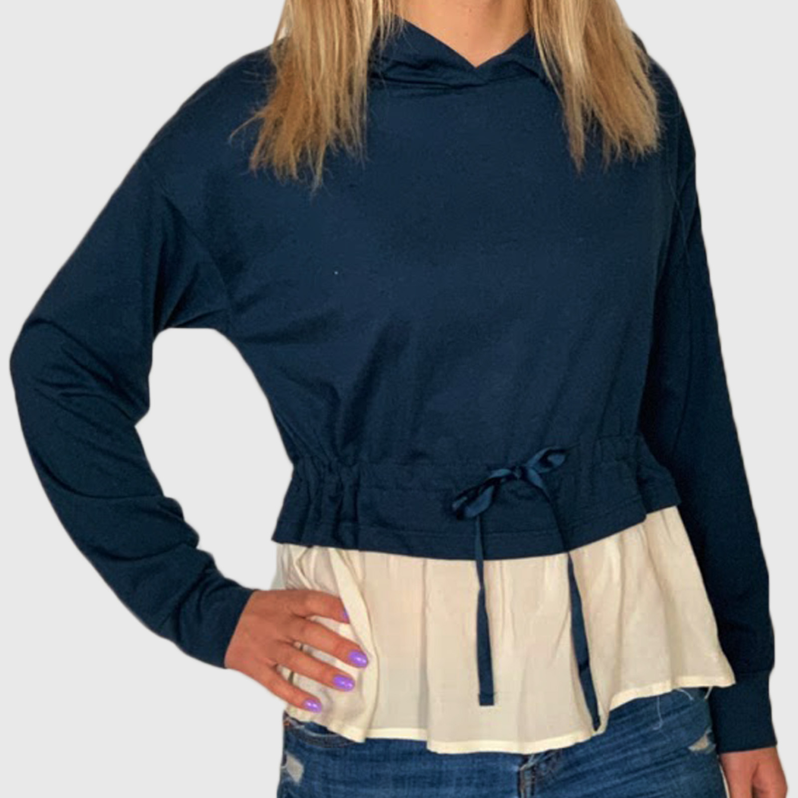 Женская комбинированная кофта-блуза Bossini
