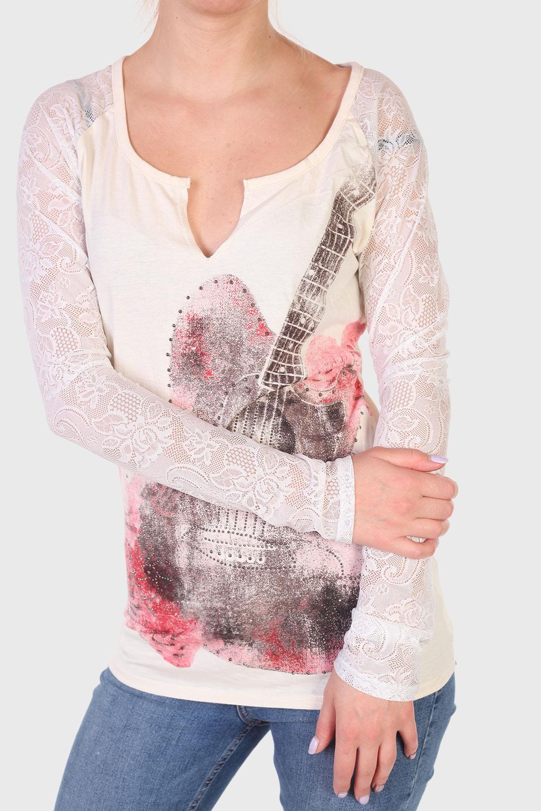 Женская кофта реглан в стиле глэм-шик от Rock and Roll Cowgirl