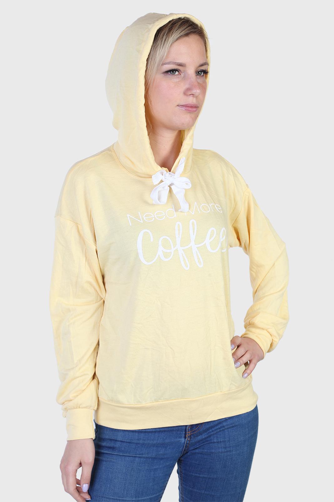 Купить женскую кофту худлон в желтом цвете