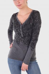 Трикотажная женская кофта пуловер Rock and Roll Cowgirl