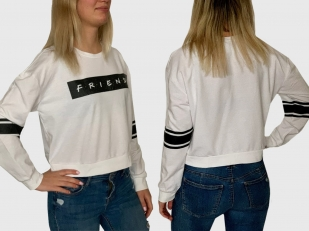 Женская белая кофта реглан Friends
