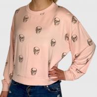 Женская кофта свитшот с черепами от Z Supply
