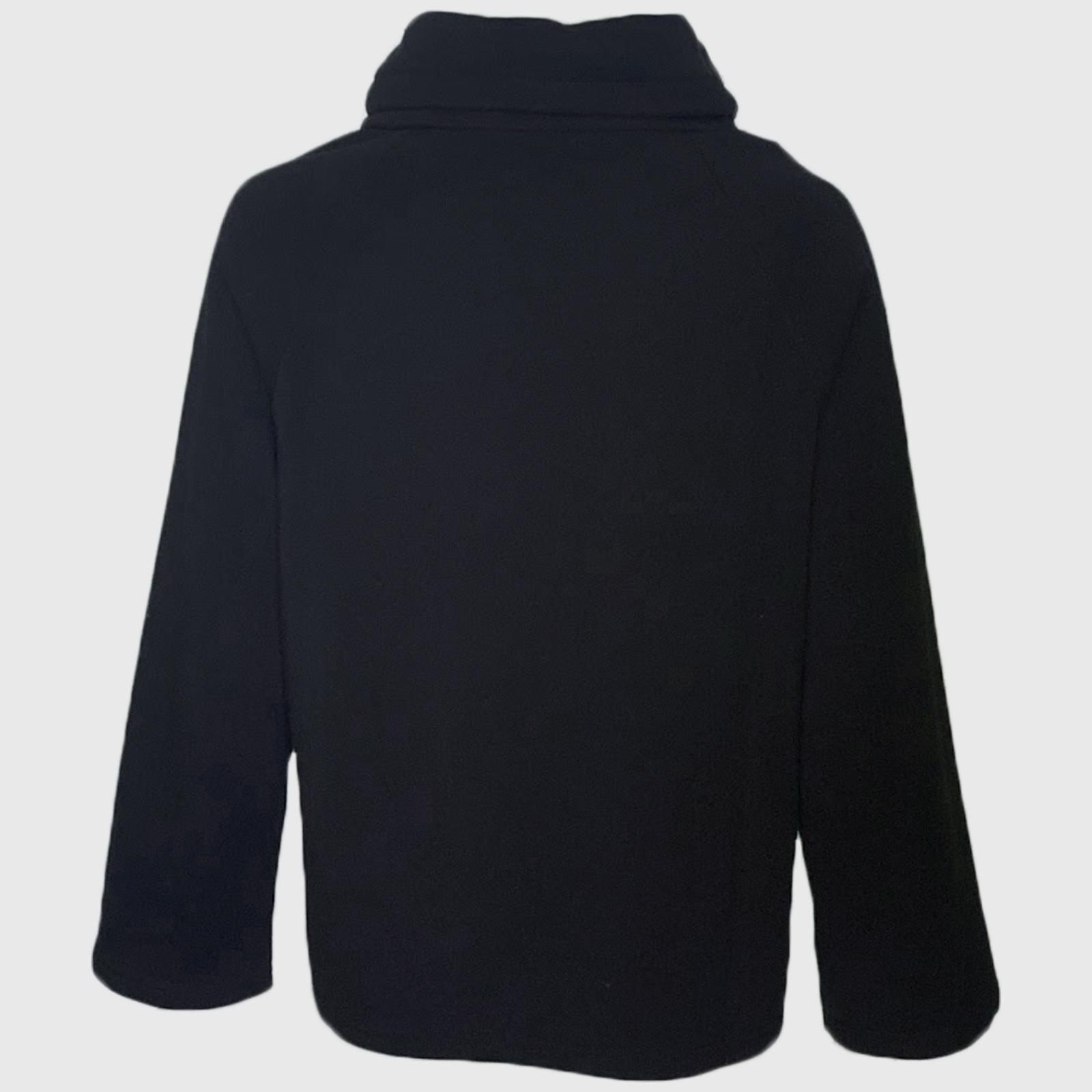 Купить женскую теплую кофту черного цвета