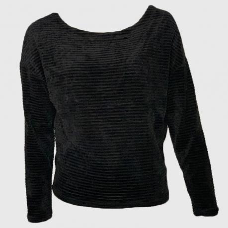 Черная женская кофта Z Supply в рубчик