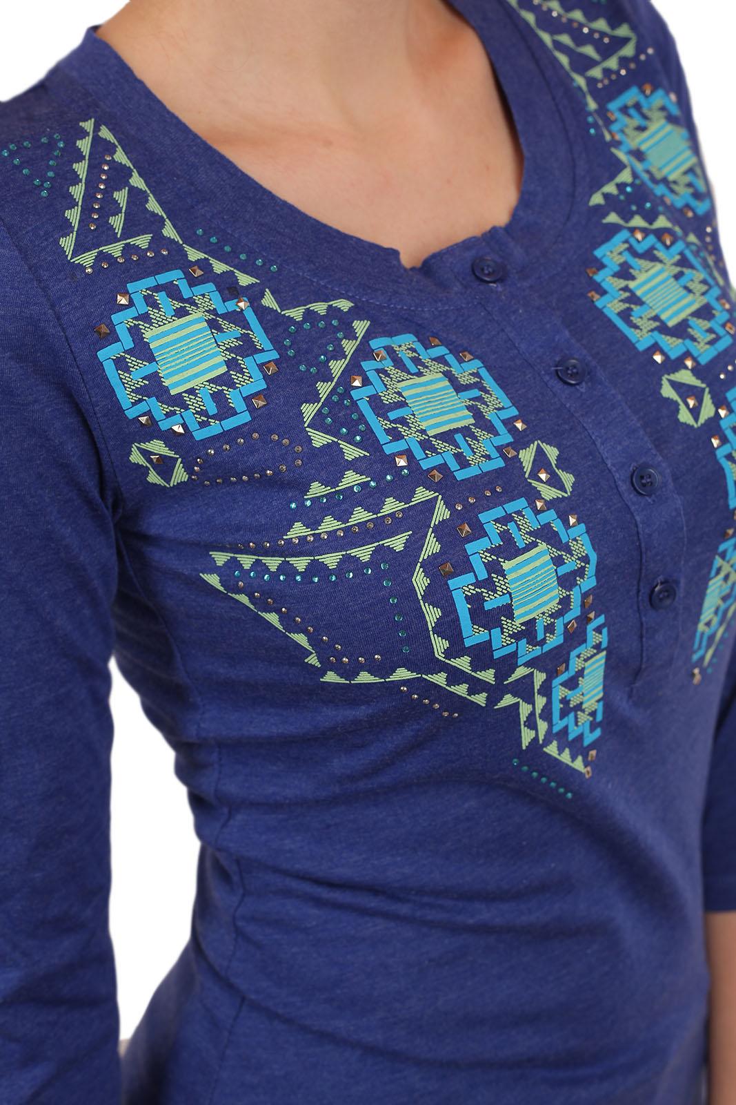 Женственная кофточка Panhandle Slim с вышитым принтом и пуговичками на груди. Ассиметричный низ, рукава ¾ и фасон, за которым гоняются все модницы Москвы