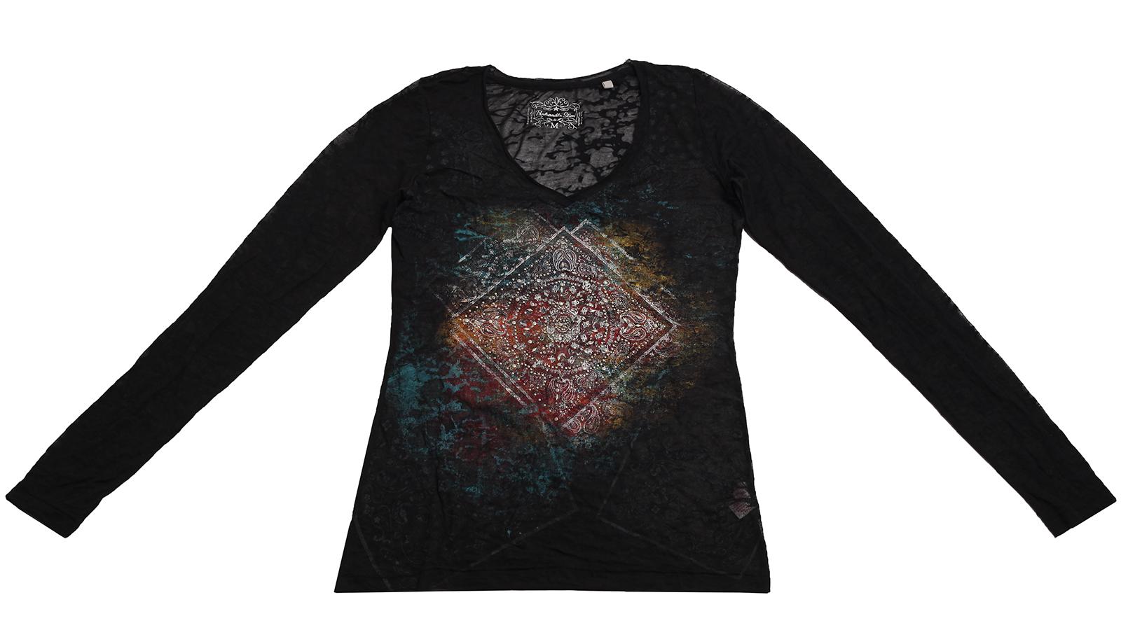Кофточка модного кроя с живописным принтом от Panhandle Slim популярная модель