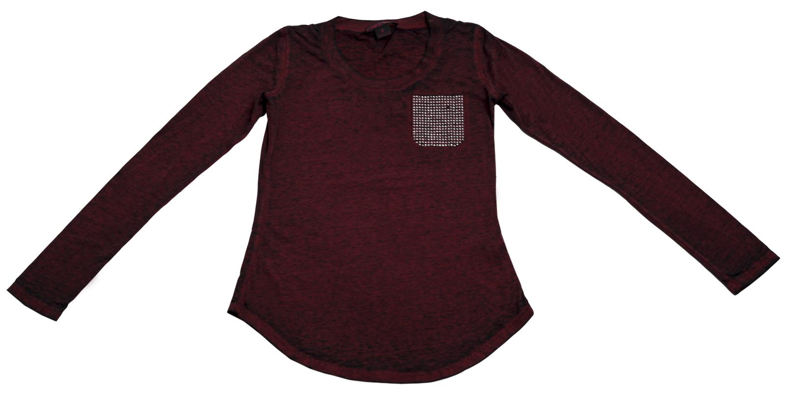 Кофточка цвета бордо бренда Rock&Roll CowGirl с карманом