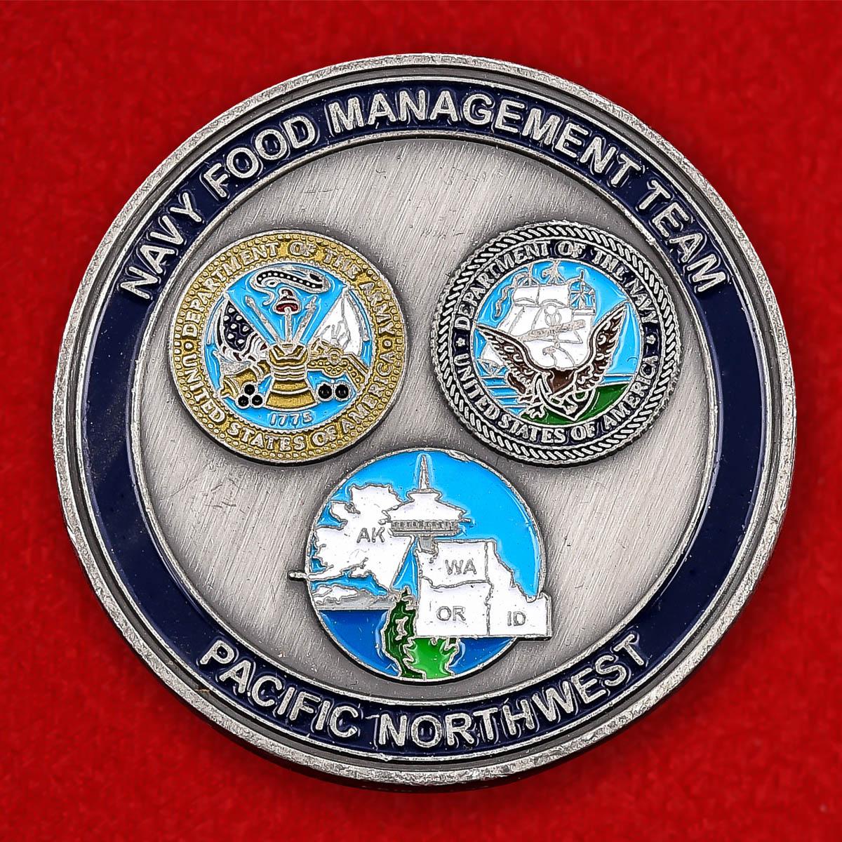 """Челлендж коин """"Управление продовольственной службы Флота. Тихоокеанский Северо-запад"""""""