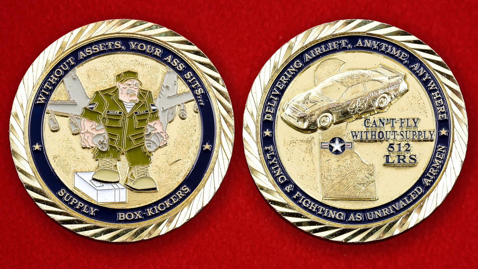 """Челлендж коин ВВС США """"512-е Инженерно-авиационное крыло"""""""