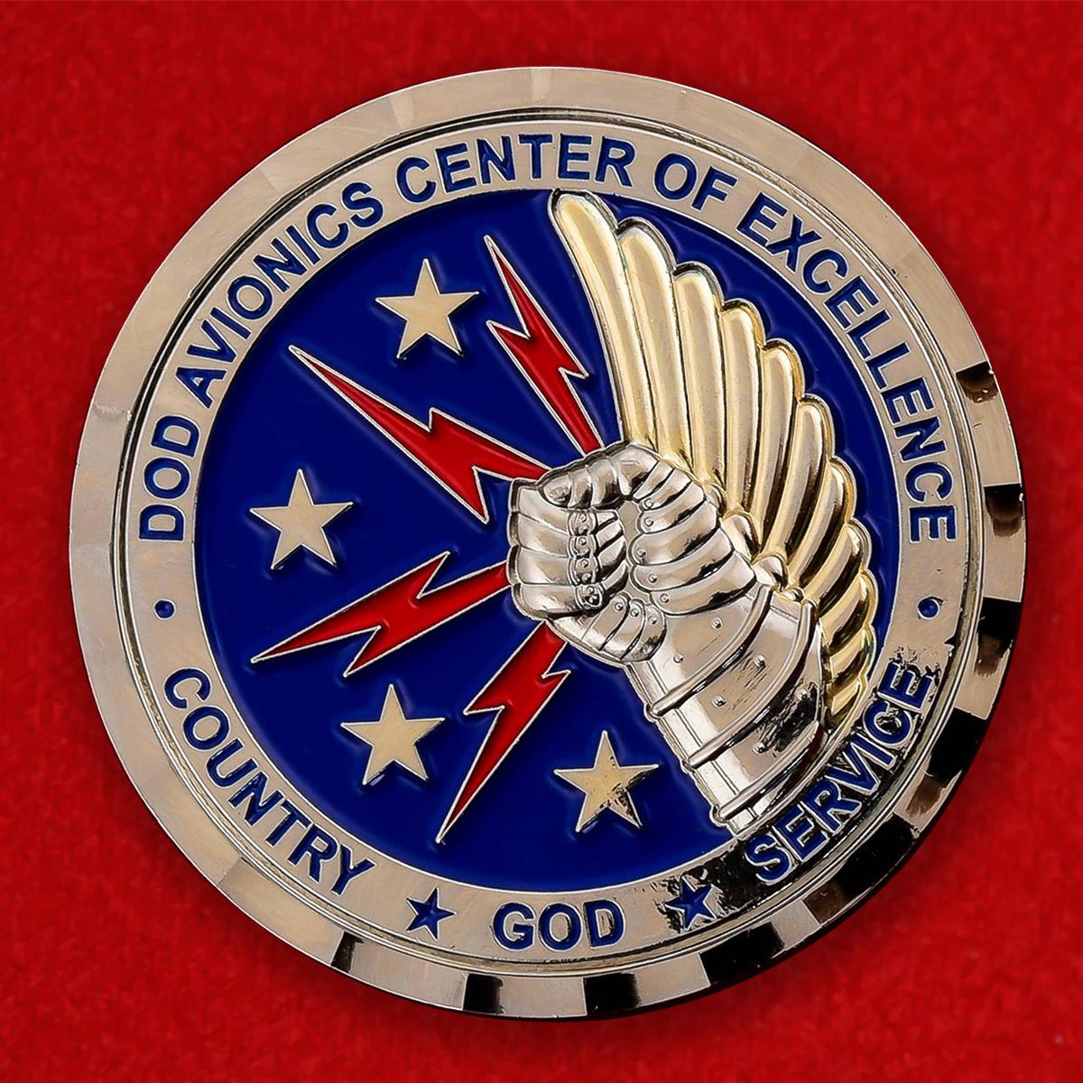 """Челлендж коин ВВС США """"От командира 402-го Инженерно -авиационного крыла, авиабаза Робинс, Джорджия"""""""
