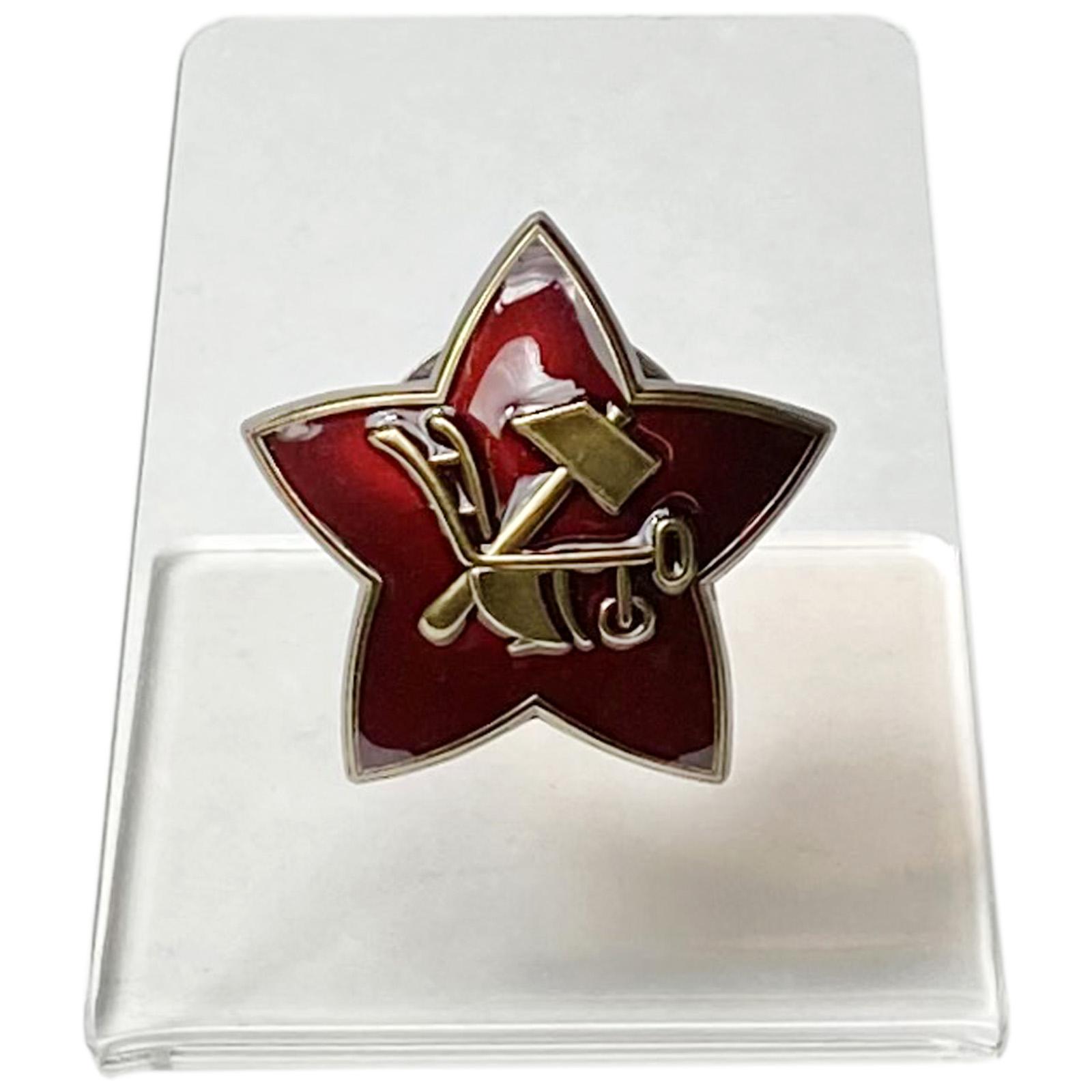 Кокарда РККА на подставке