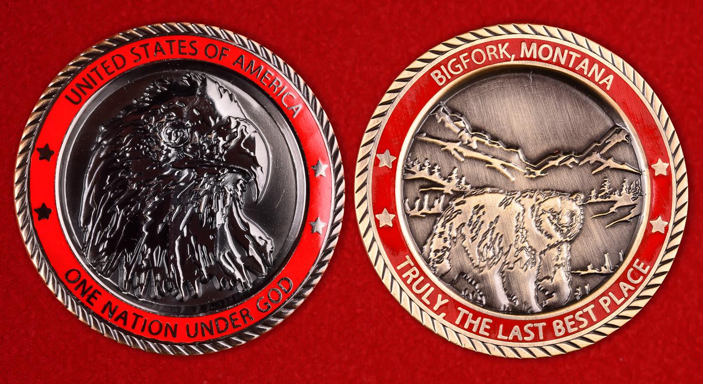 Коллекционная монета США от администрации города Бигфорк, Монтана