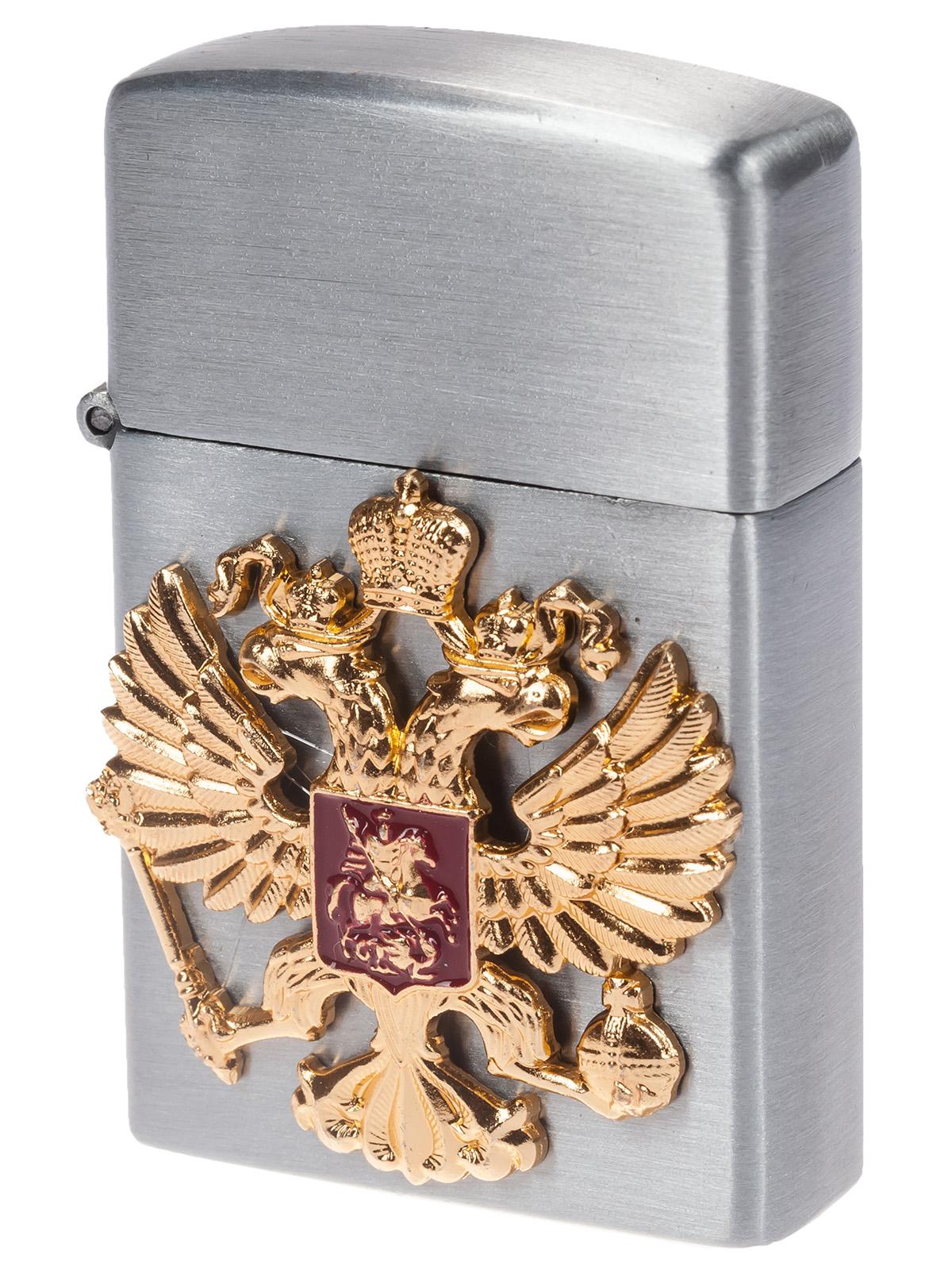 Коллекционная зажигалка с гербом России