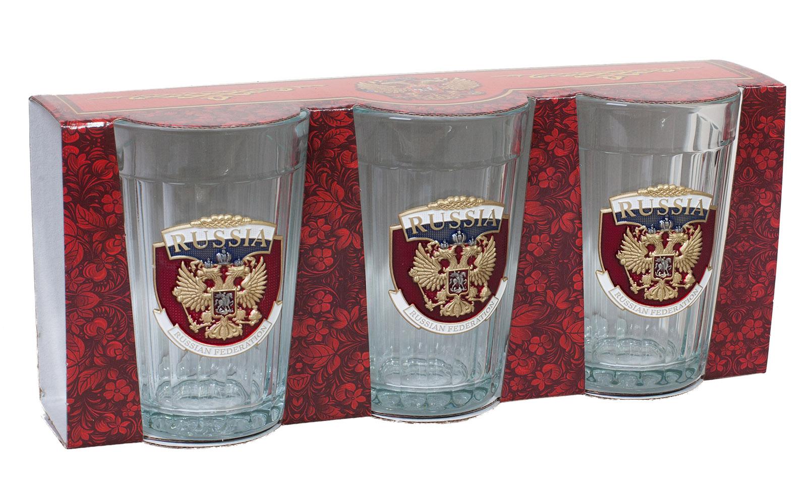 Коллекционные гранёные стаканы Russia