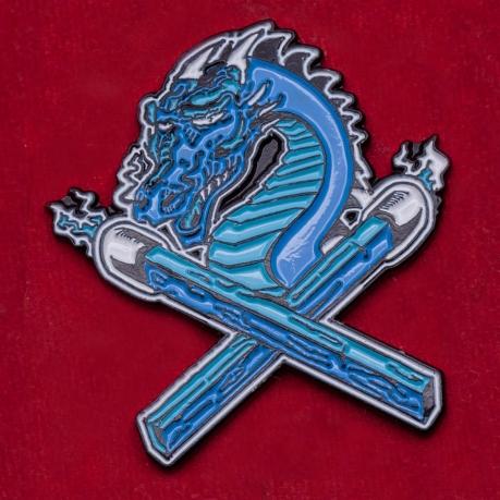 """Коллекционный значок """"Синий дракон"""""""