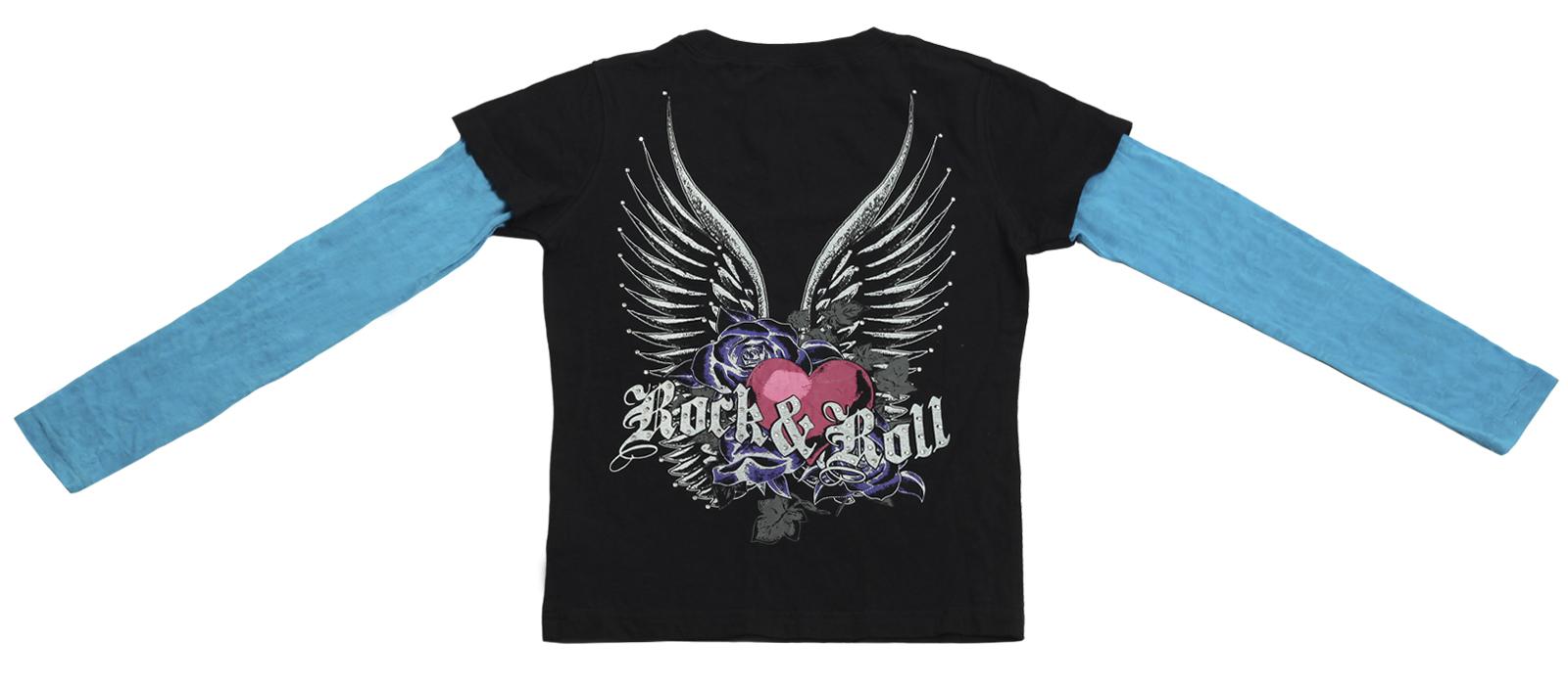 Заказать колоритную кофточку бренда Rock&Roll CowGirl с принтом Сердце в розах по выгодной цене