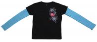 """Колоритная кофточка бренда Rock&Roll CowGirl с принтом """"Сердце в розах"""""""