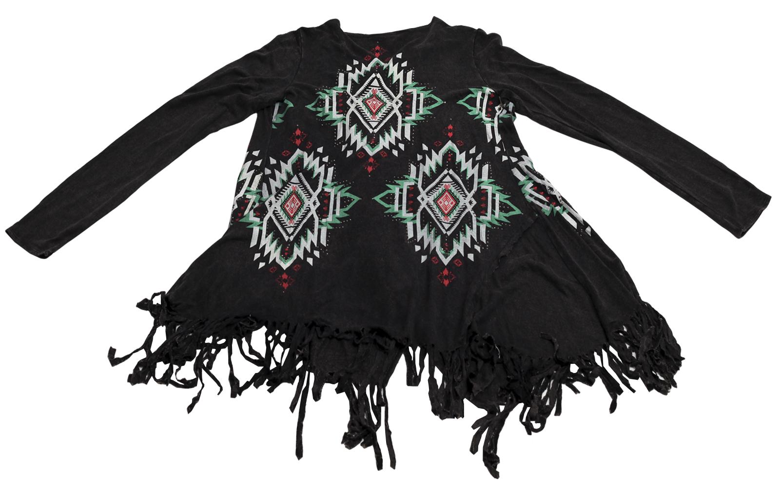 Купить колоритную кофточку стиля Бохо с бахромой Rock&Roll CowGirl и этно орнаментами по лучшей цене