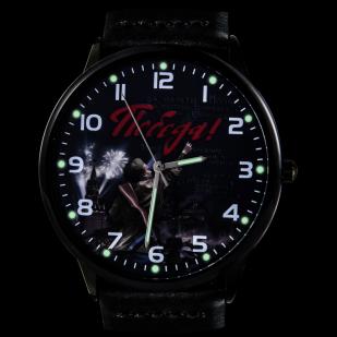 Командирские часы «75 лет Победы» с кожаным ремешком - подсветка