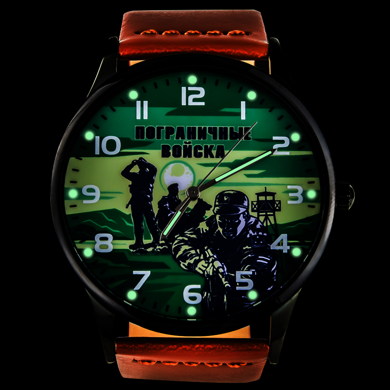 Командирские часы «Погранвойска» - тритиевая подсветка