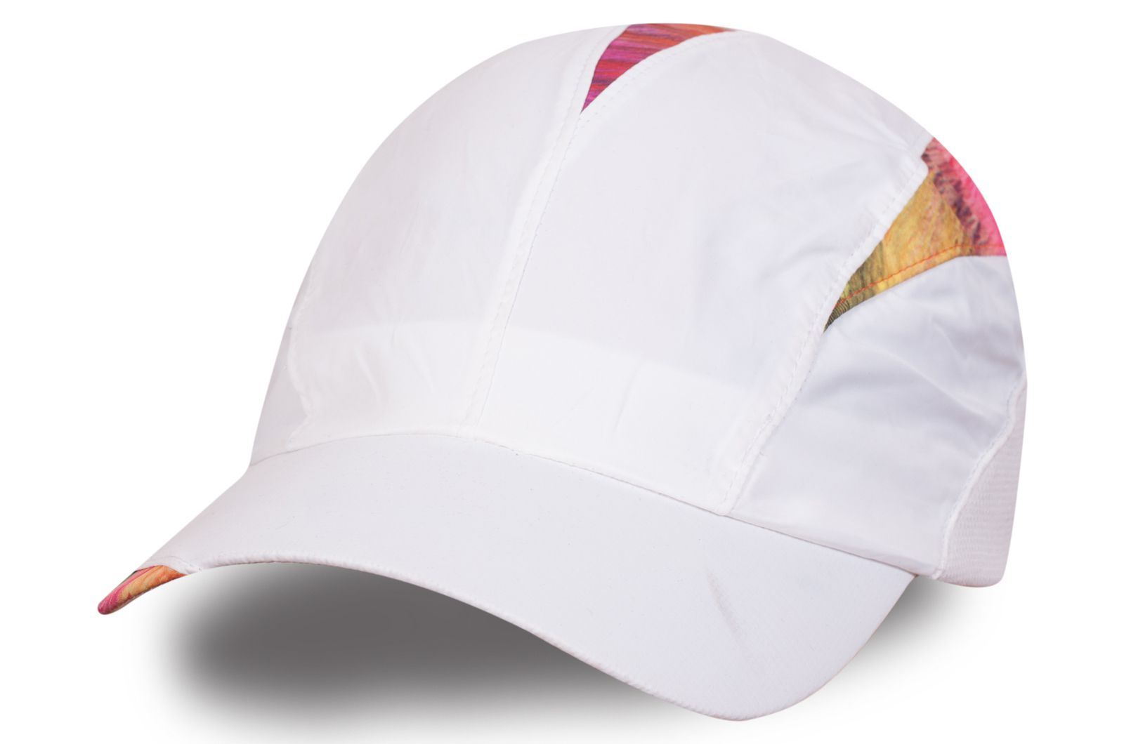 Комбинированная женская кепка-пятипанелька