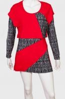 Комбинированное платье LOBO.