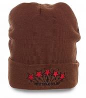 Комфортная мужская шапка популярная модель на каждый день с флисом