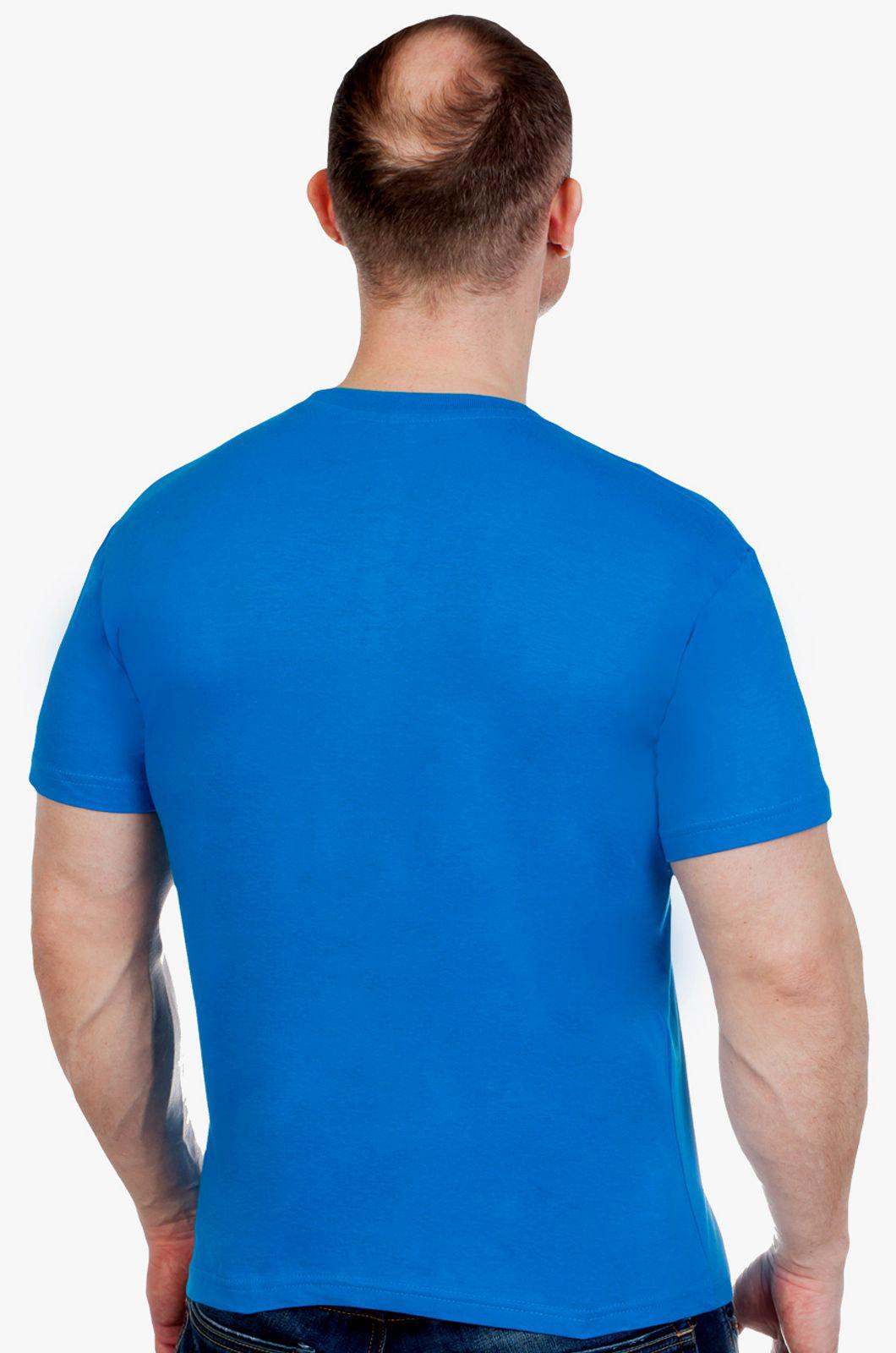 Комфортная синяя футболка Россия - заказать онлайн