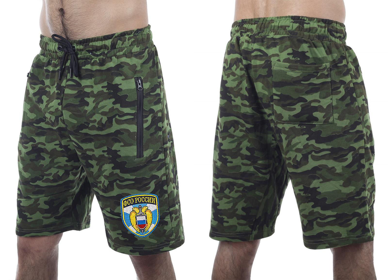 Комфортные трендовые шорты с нашивкой ФСО - купить онлайн