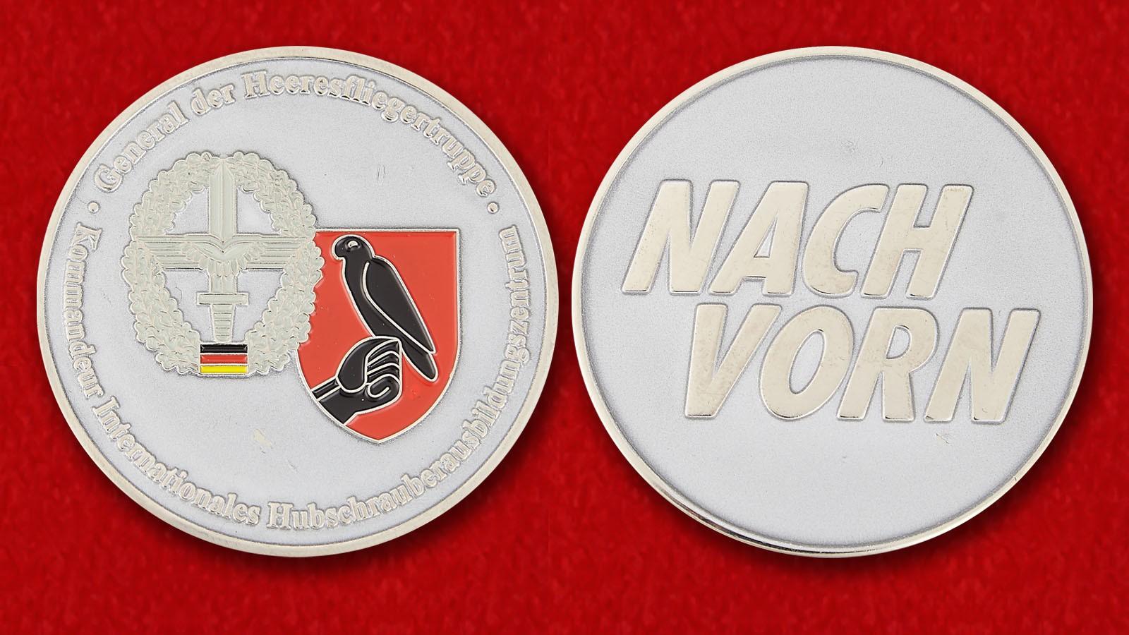 Kommandeur Internationales Hubschrauberausbildungszentrum General der Heeresfliegertruppe Bundeswehr Challenge Coin - both sides