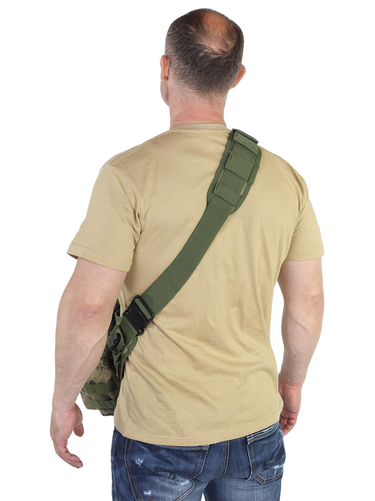 Компактная тактическая сумка через плечо со стропами MOLLE