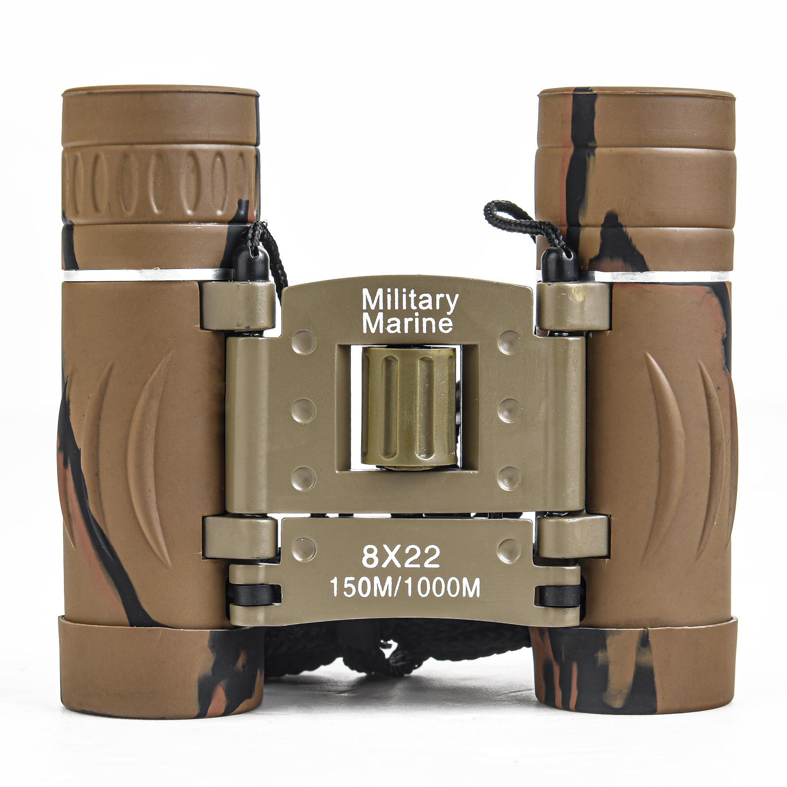Компактный бинокль Military Marine 8x22 Camo
