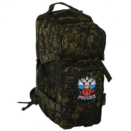 """Компактный камуфляжный рюкзак с эмблемой """"Россия"""""""