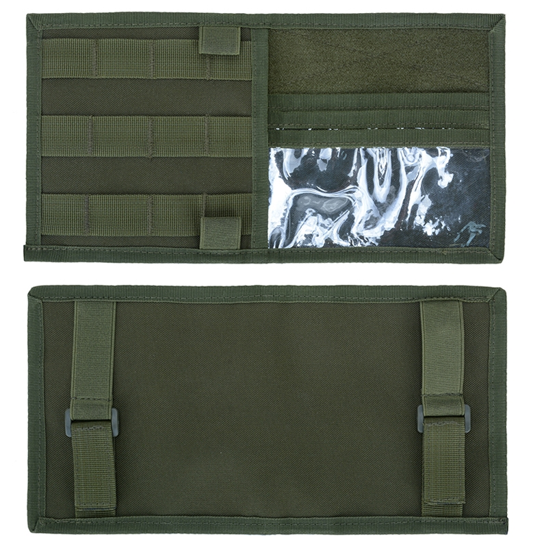 Компактный тактический органайзер на солнезащитный козырек машины (хаки-олива)