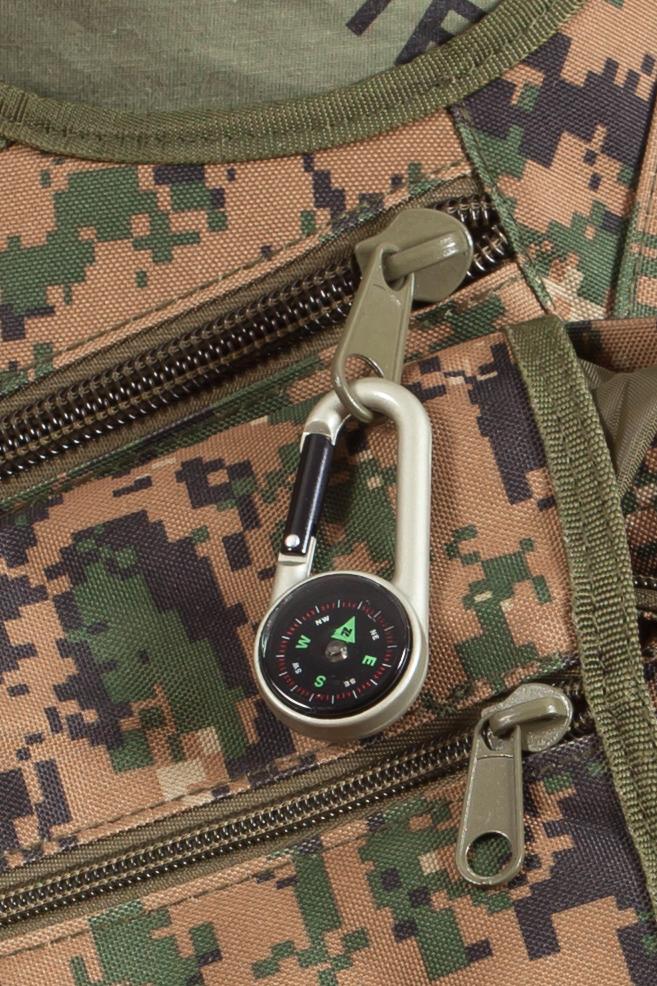 Компактный компас с карабином