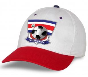 Белая бейсболка с принтом Costa Rica.