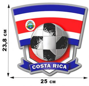 Наклейка Коста-Рика к ЧМ 2018.