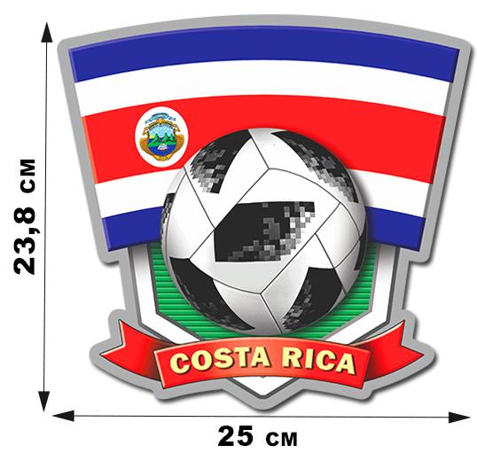 Наклейка ЧМ-2018 сборной Costa Rica.