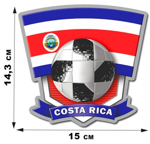 Наклейка сборной команды Коста-Рики.
