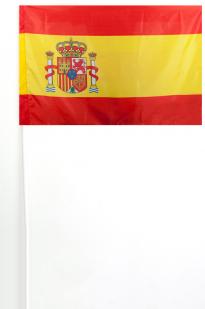 Флажок Испании на палочке 15x23 см