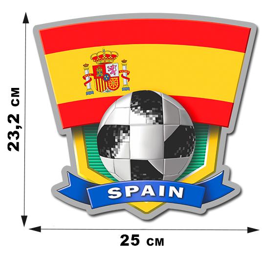 Футбольная наклейка сборной Испании.