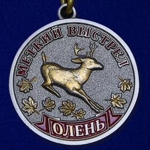 """Медаль """" Меткий выстрел. Олень»"""