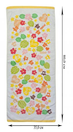 Комплект полотенец для душа 5 штук: лицо, голова, руки, тело, ноги.