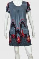 Контрастное женское платье с карманами от KRVEDECK