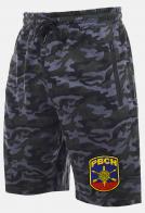 Контрастные камуфляжные шорты с карманами и нашивкой РВСН
