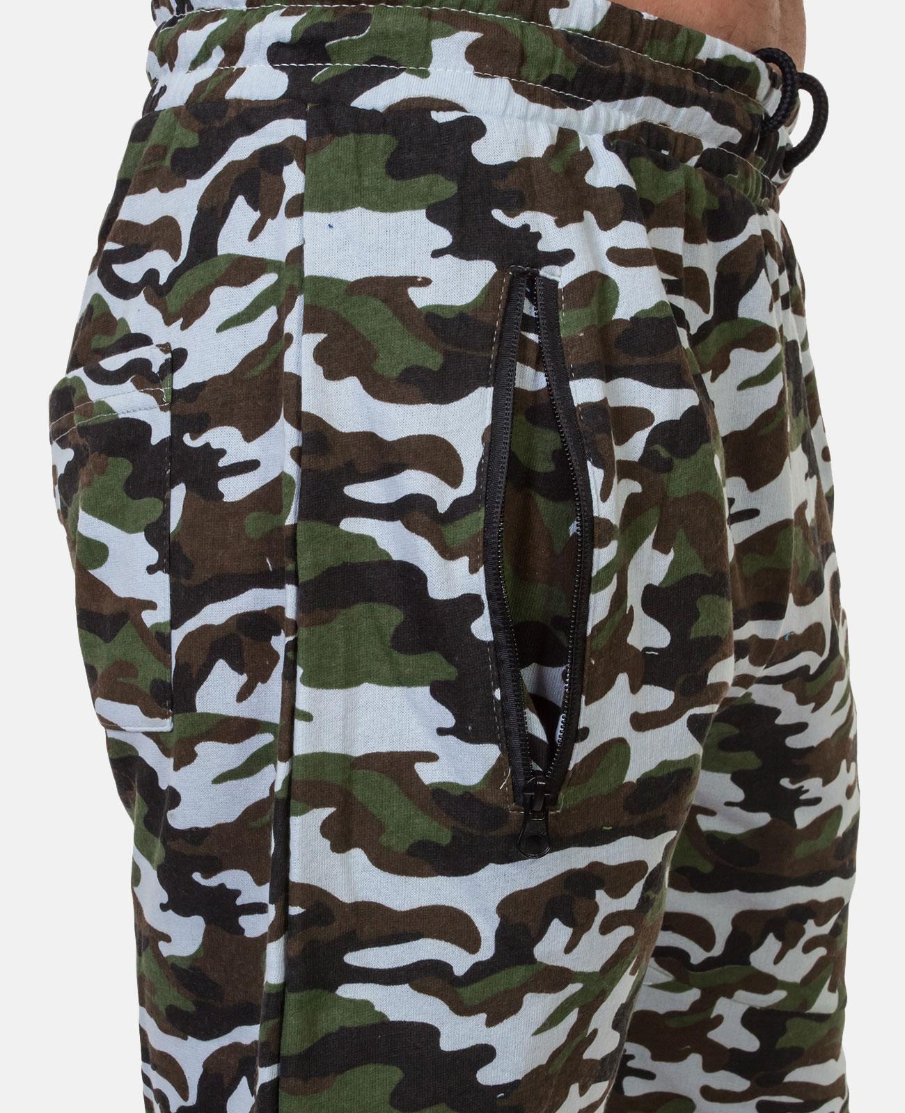 Контрастные камуфляжные шорты с нашивкой РВСН - заказать в розницу
