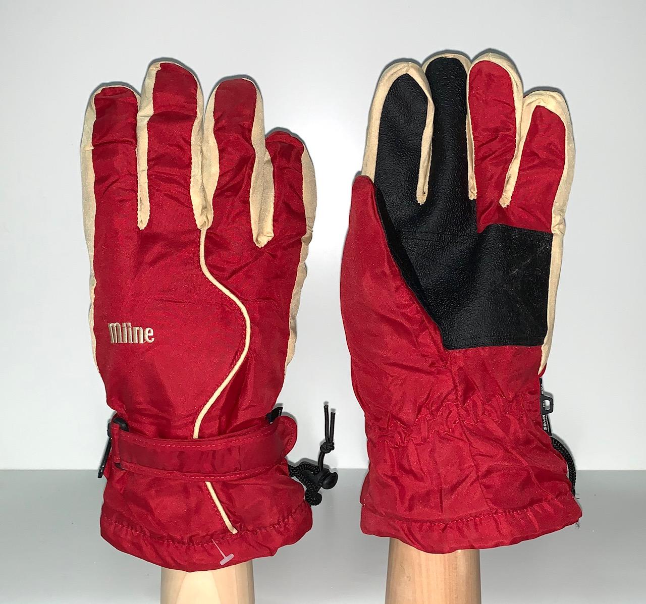 Контрастные теплые перчатки для зимы