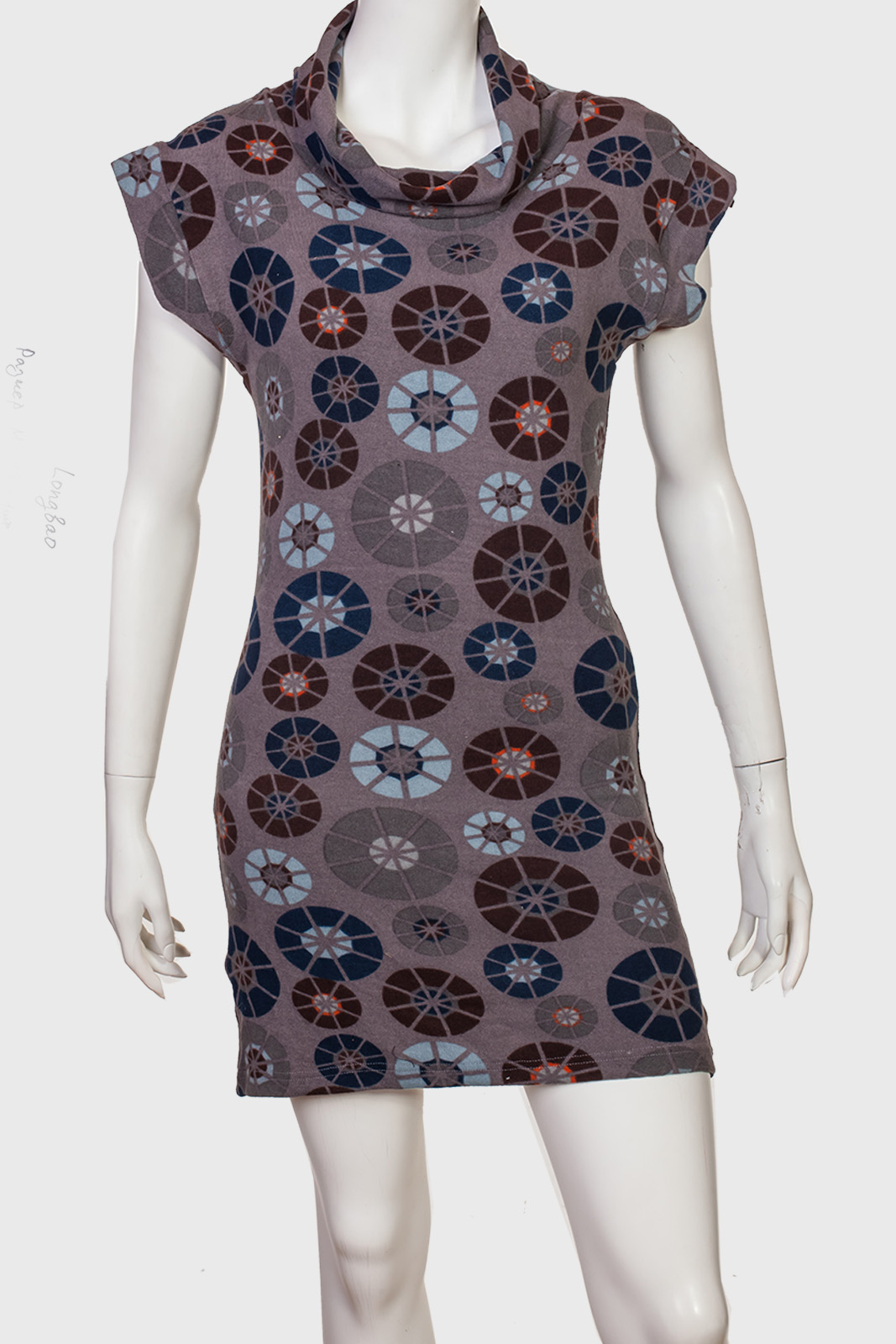 Контурное короткое платье от Long Bao