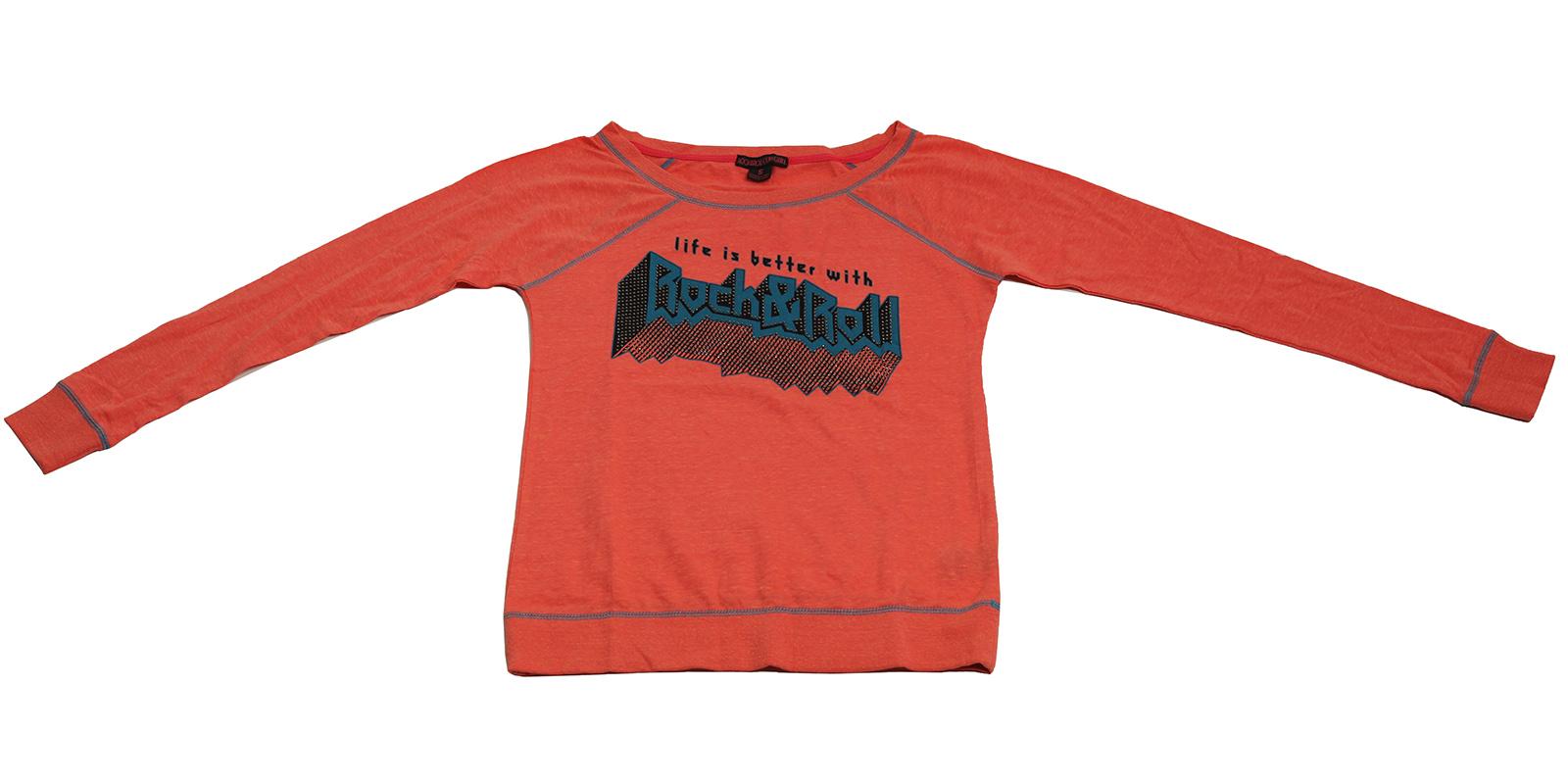 Коралловая кофточка Rock&Roll CowGirl - популярная модель со стильной надписью