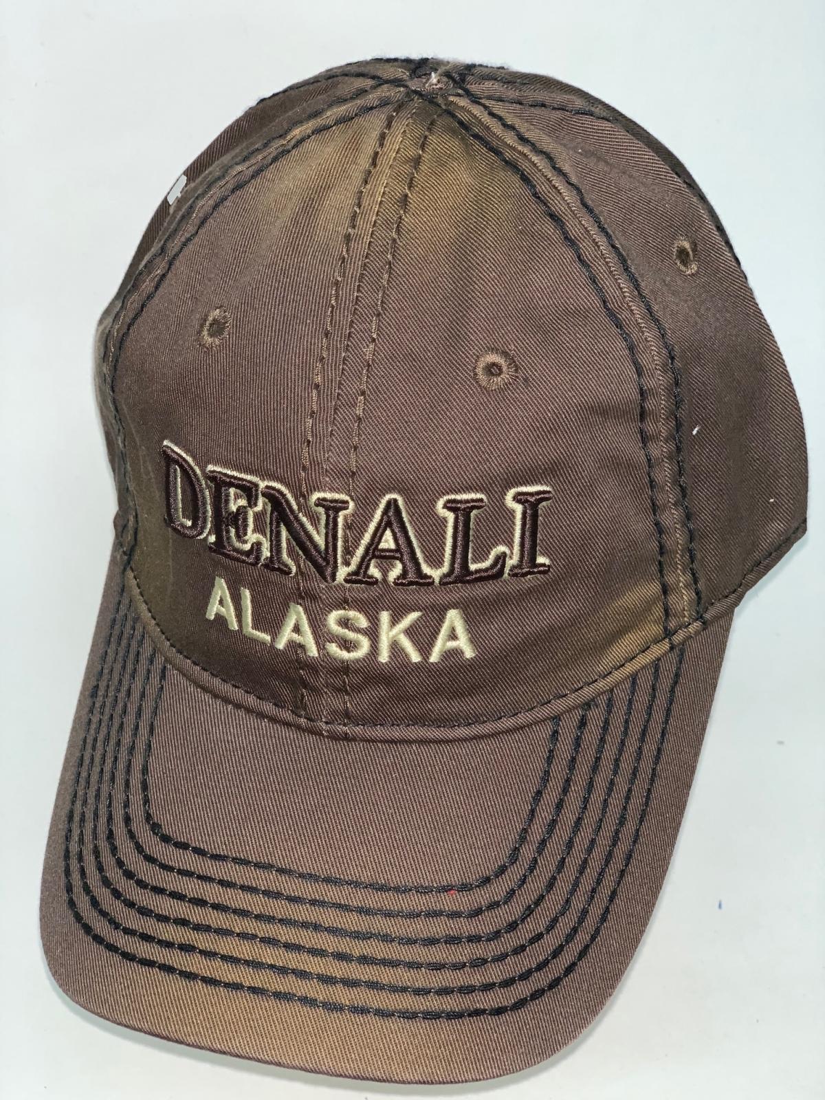 Коричневая бейсболка Alaska простроченная черной нитью
